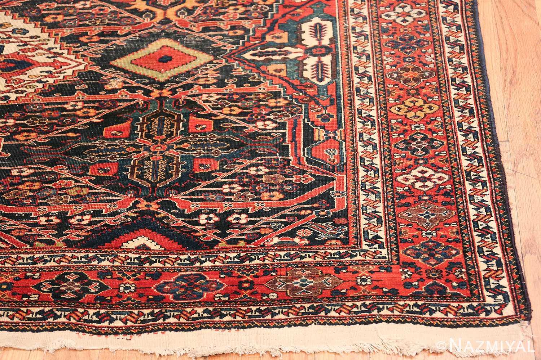Antique Tribal Persian Bakhtiari Shabby Chic Rug 48937 Side Corner Nazmiyal