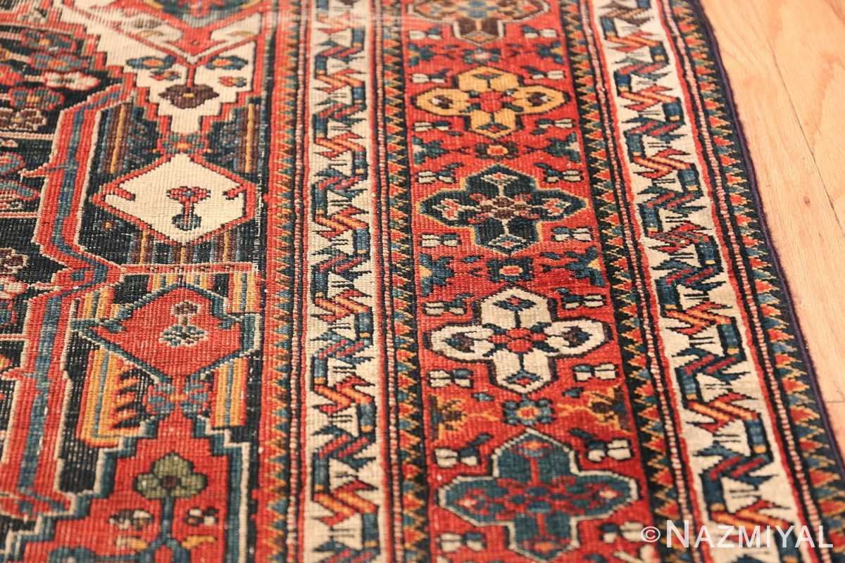 Antique Tribal Persian Bakhtiari Shabby Chic Rug 48937 Small Border Nazmiyal