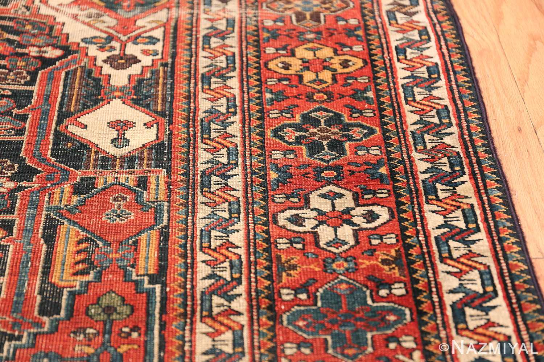 Antique Tribal Persian Bakhtiari Shabby Chic Rug 48937 Small Border Nazmiyal