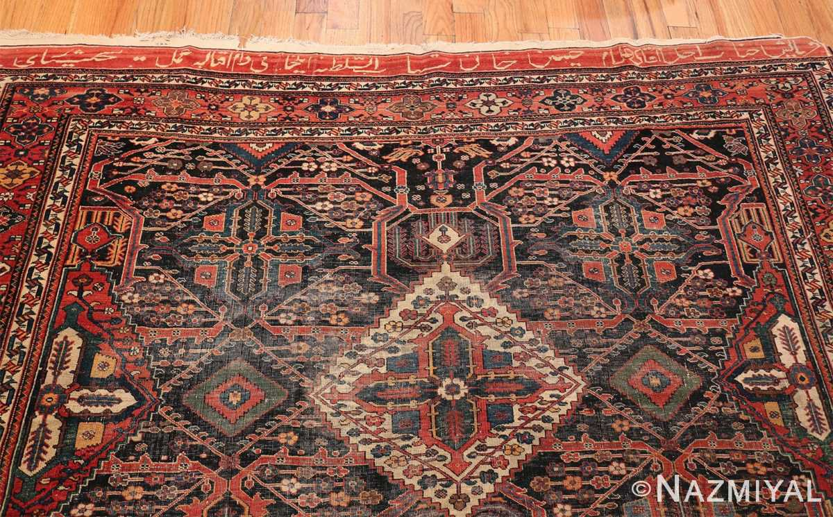 Antique Tribal Persian Bakhtiari Shabby Chic Rug 48937 Top Design Nazmiyal