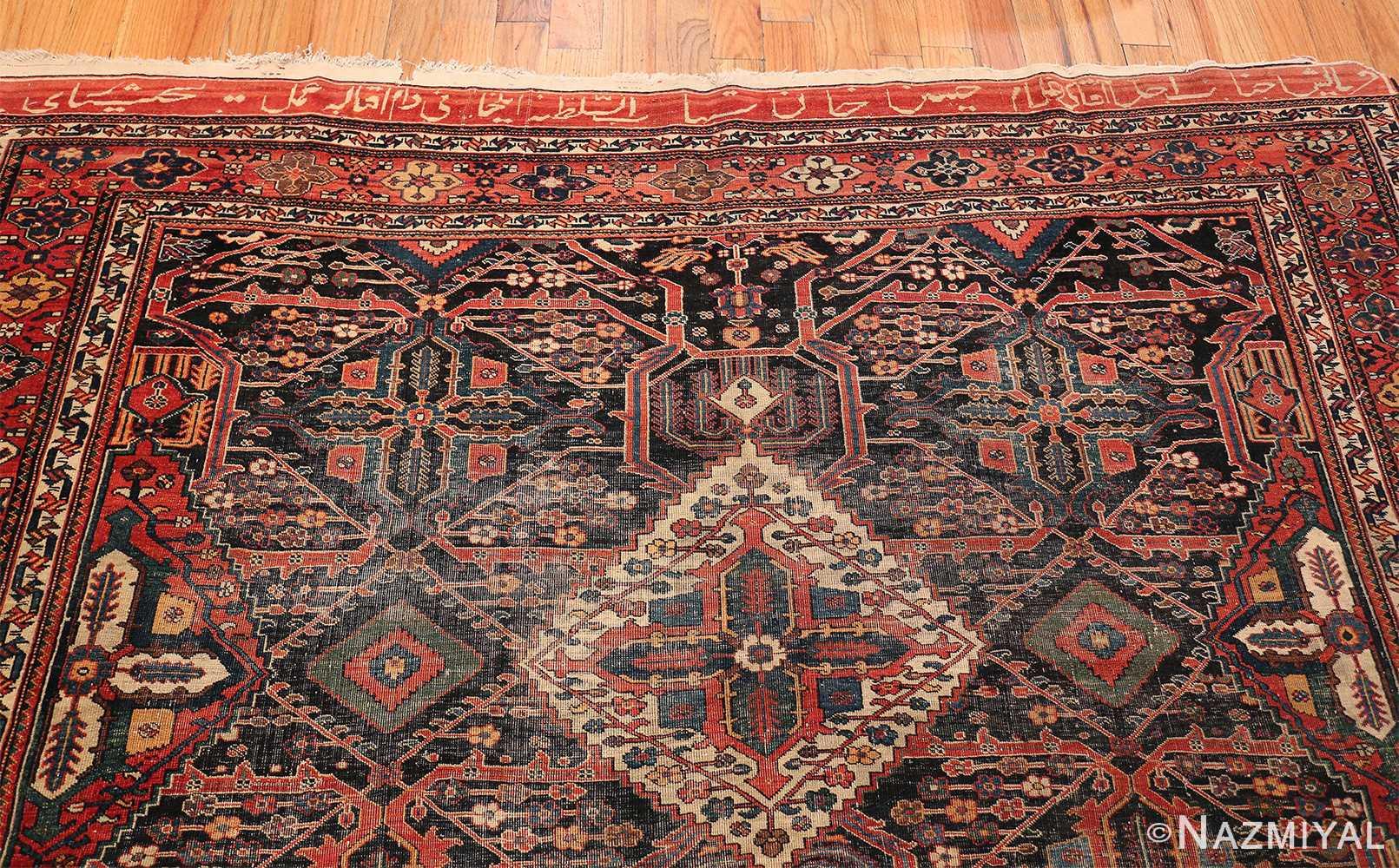 Antique Tribal Persian Bakhtiari Shabby Chic Rug 48937 Top Design Nazmiyal