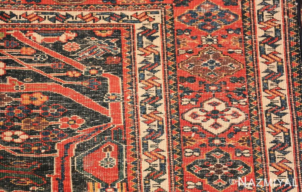 Antique Tribal Persian Bakhtiari Shabby Chic Rug 48937 Woven Knots Nazmiyal
