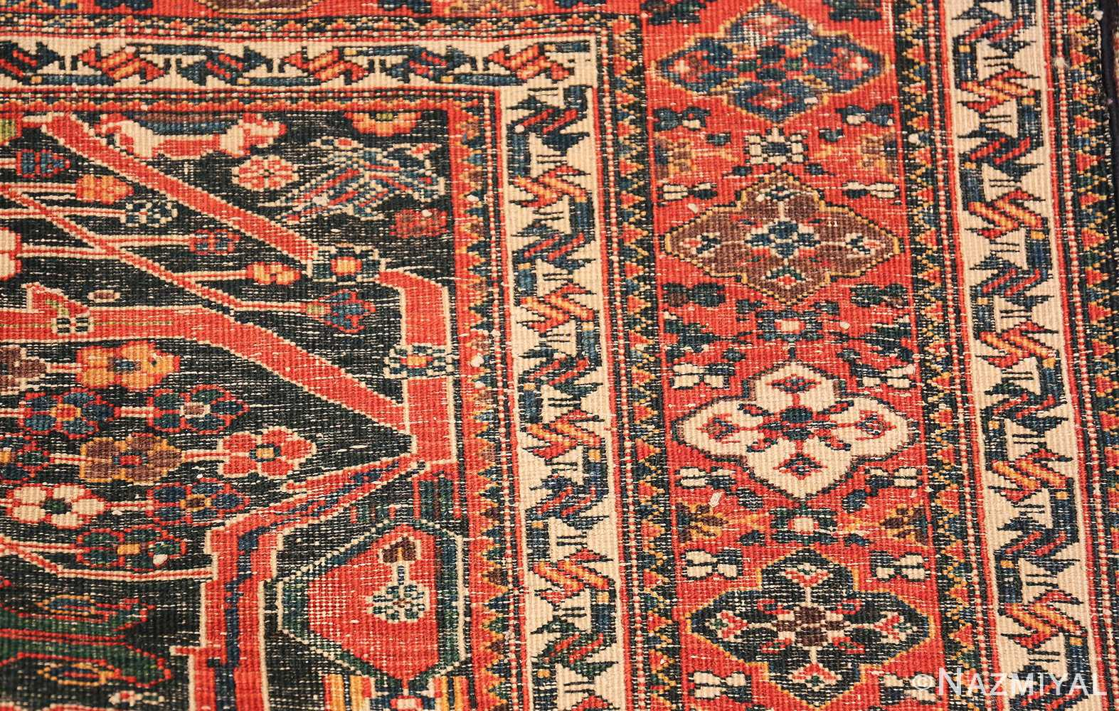 Antique Tribal Persian Bakhtiari Shabby Chic Rug 48937 Woven Knots Nazmiyal