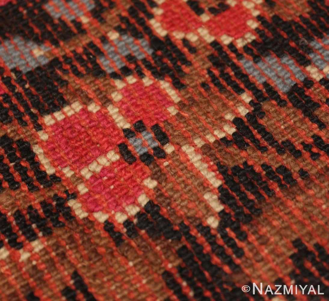 Back detail from the large square size Antique Irish Donegal rug 50452 by Nazmiyal