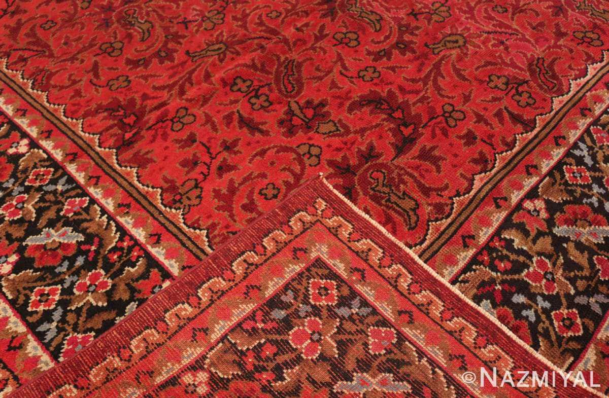 Back from the large square size Antique Irish Donegal rug 50452 by Nazmiyal
