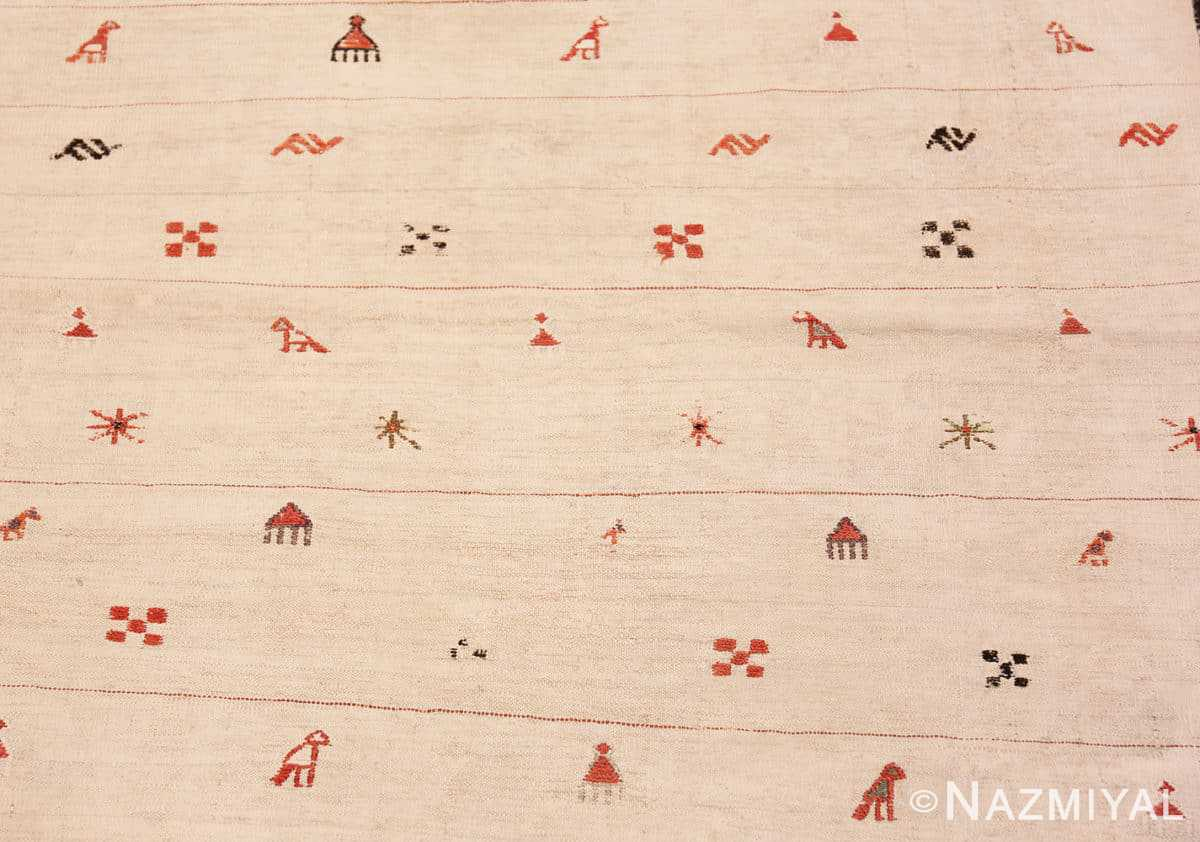 Background Tribal Antique flat Woven Caucasian Shahsavan Kilim rug 48933 by Nazmiyal