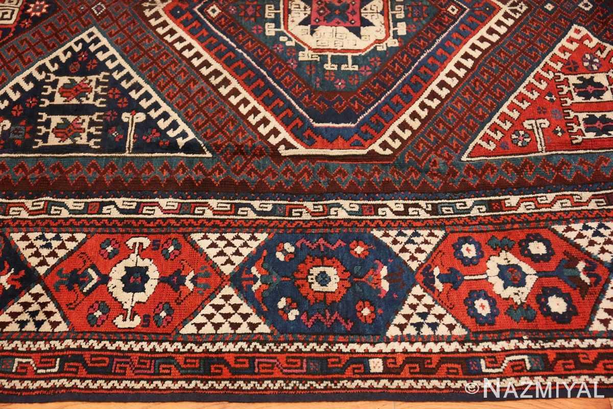 Border Colletible Antique Turkish Bergama rug 48884 by Nazmiyal
