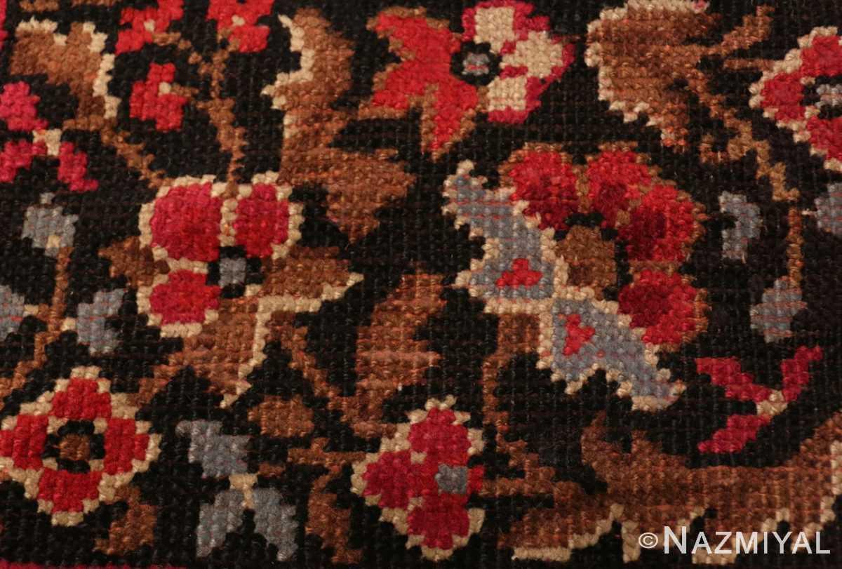Border detail large square size Antique Irish Donegal rug 50452 by Nazmiyal