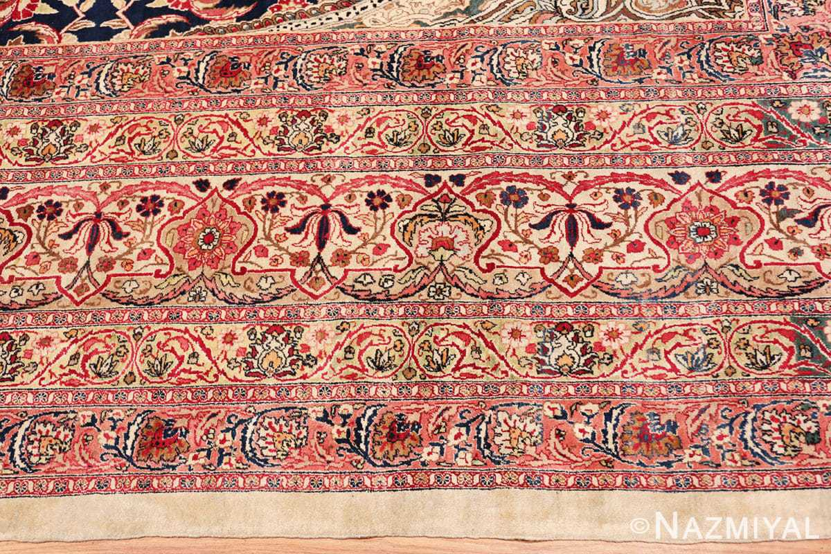 Border Finely Woven Large Oversized Antique Persian Kerman rug 48945 by Nazmiyal
