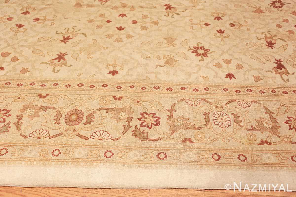 Border Large cream background Antique Inian Amritsar 50658 by Nazmiyal