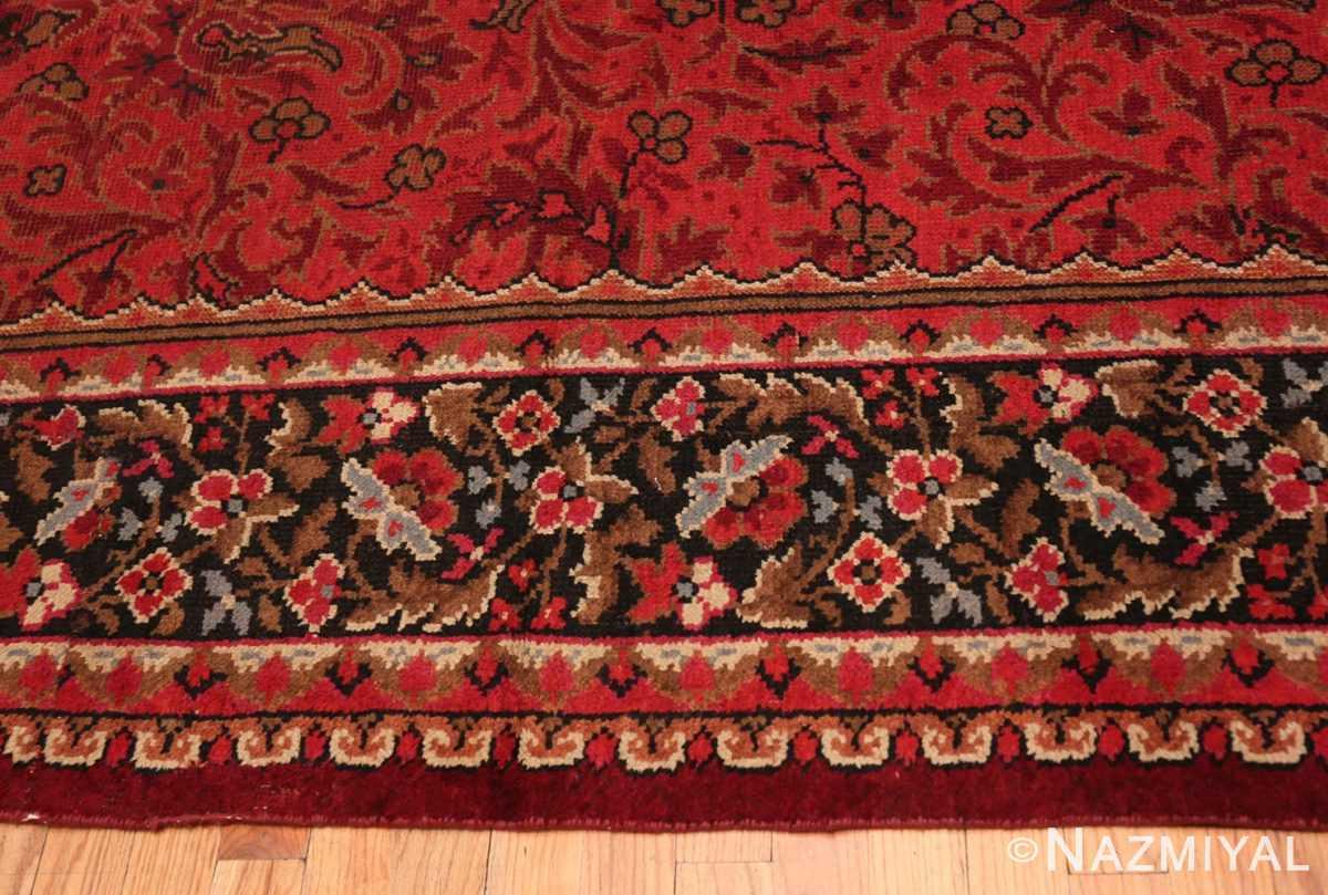 Border large square size Antique Irish Donegal rug 50452 by Nazmiyal