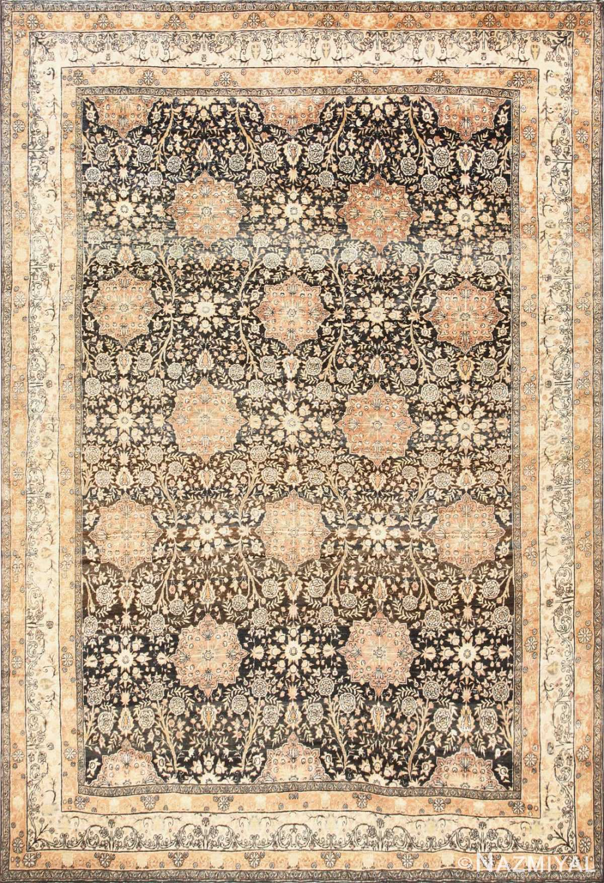 Charcoal Antique Persian Kerman Rug 50661 Nazmiyal