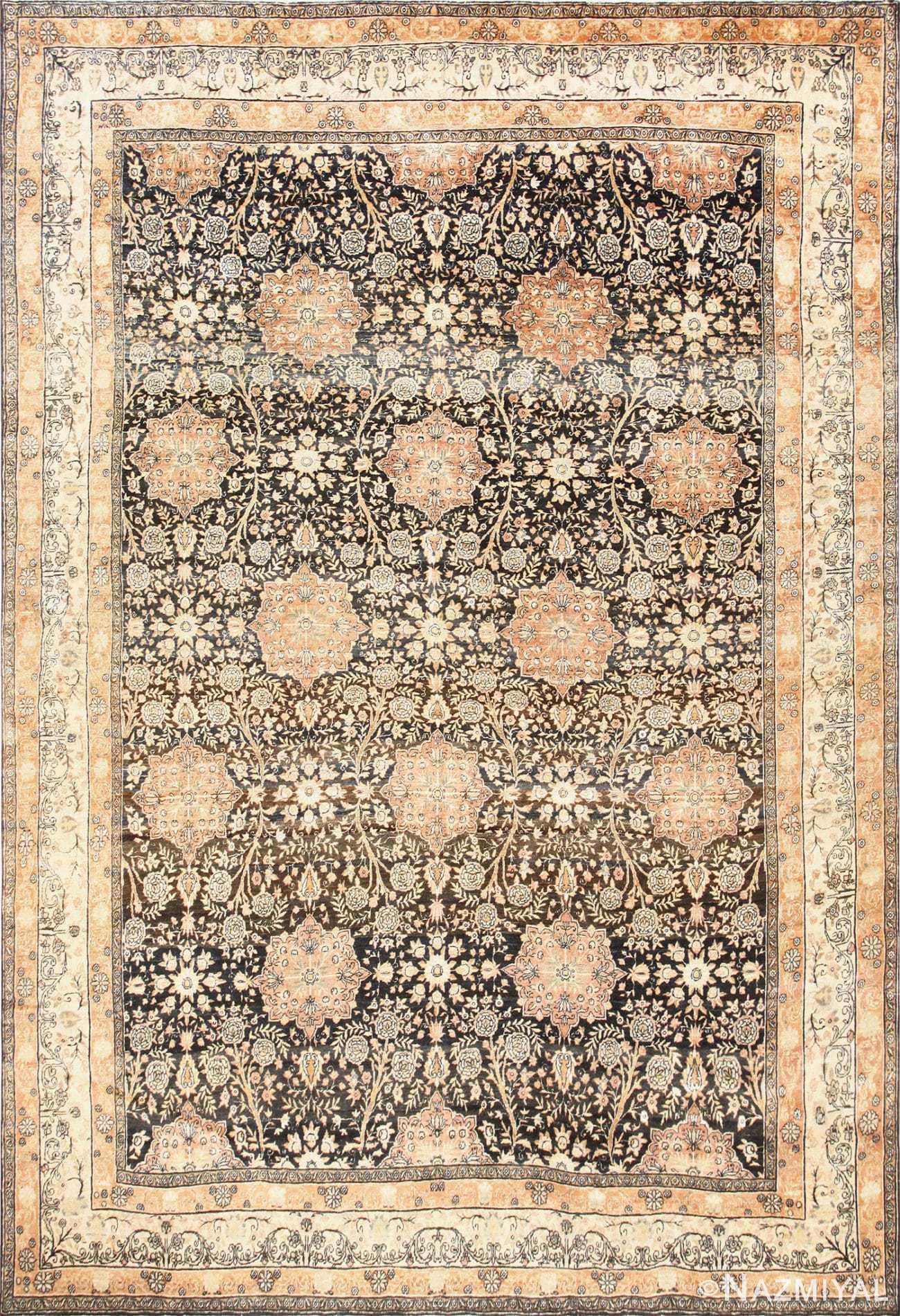 Charcoal Antique Persian Kerman Rug 50661 Nazmiyal
