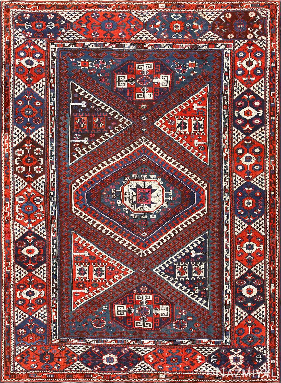 Collectible Tribal Antique Turkish Bergama Rug 48884 Nazmiyal