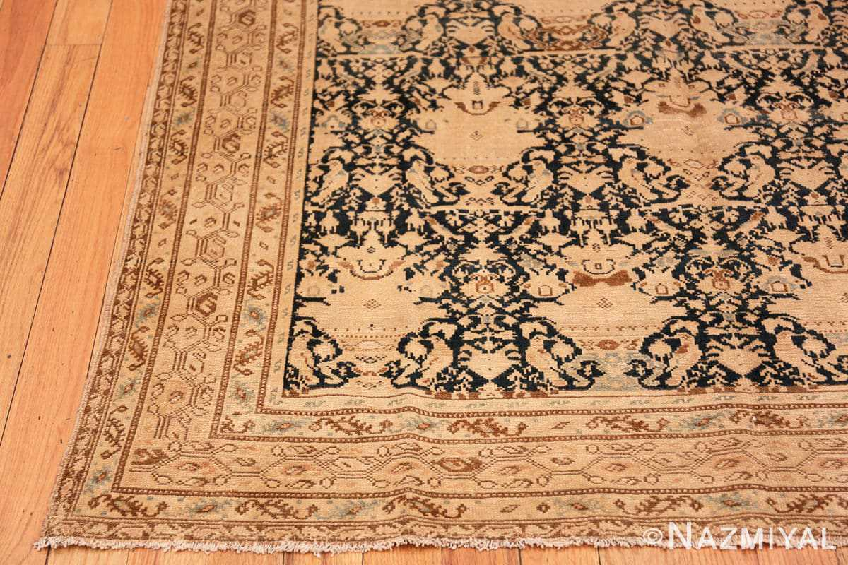 Corner Antique gallery size Tribal Persian Malayer rug 50662 by Nazmiyal