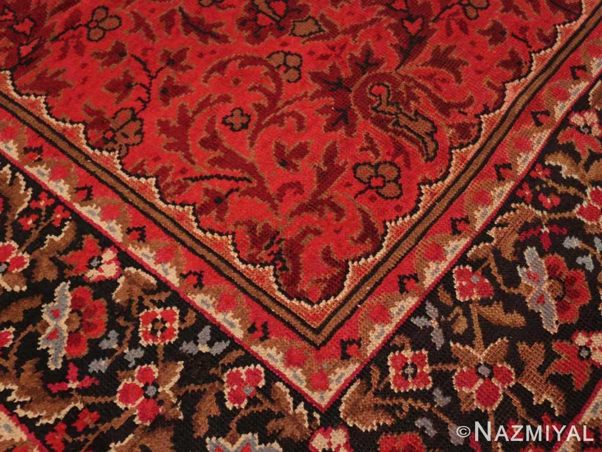 Corner center detail large square size Antique Irish Donegal rug 50452 by Nazmiyal