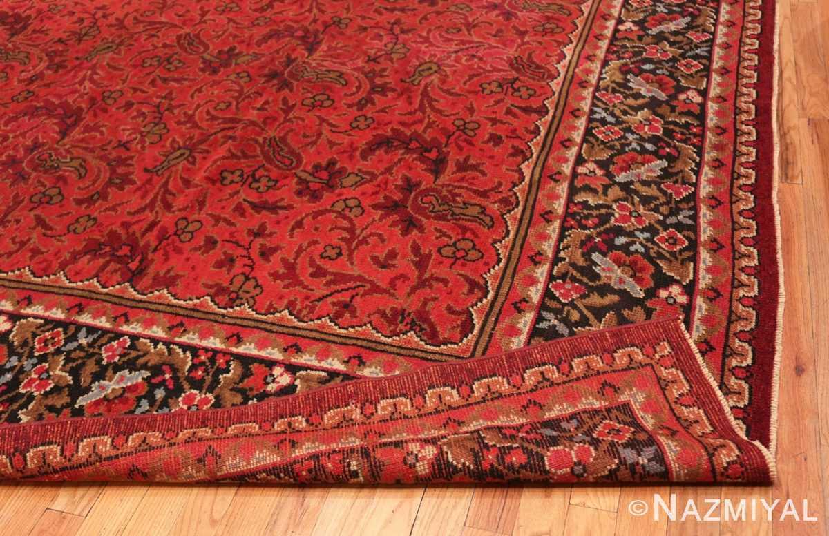 Corner folded large square size Antique Irish Donegal rug 50452 by Nazmiyal