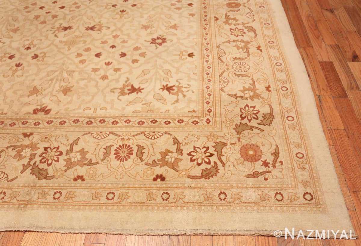 Corner Large cream background Antique Inian Amritsar 50658 by Nazmiyal