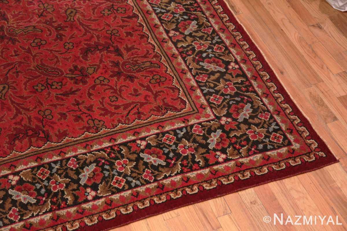 Corner large square size Antique Irish Donegal rug 50452 by Nazmiyal