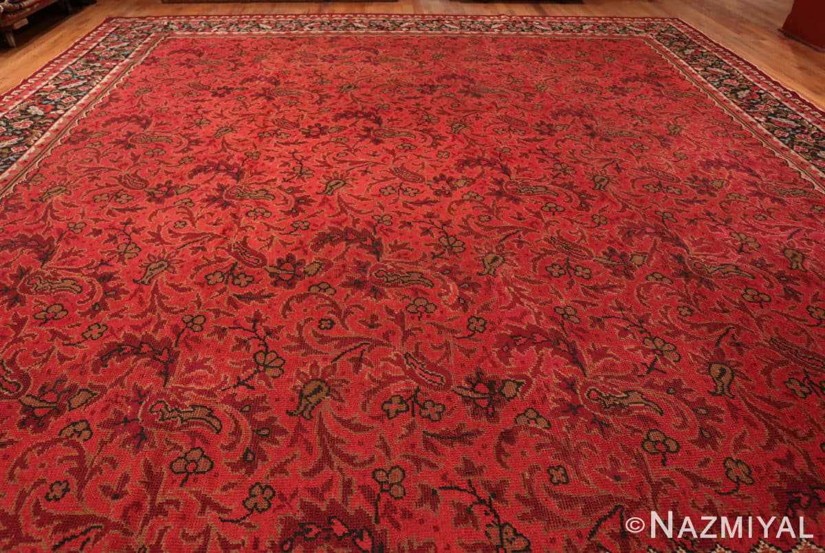 Field large square size Antique Irish Donegal rug 50452 by Nazmiyal
