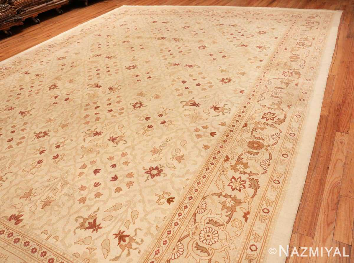 Full Large cream background Antique Inian Amritsar 50658 by Nazmiyal