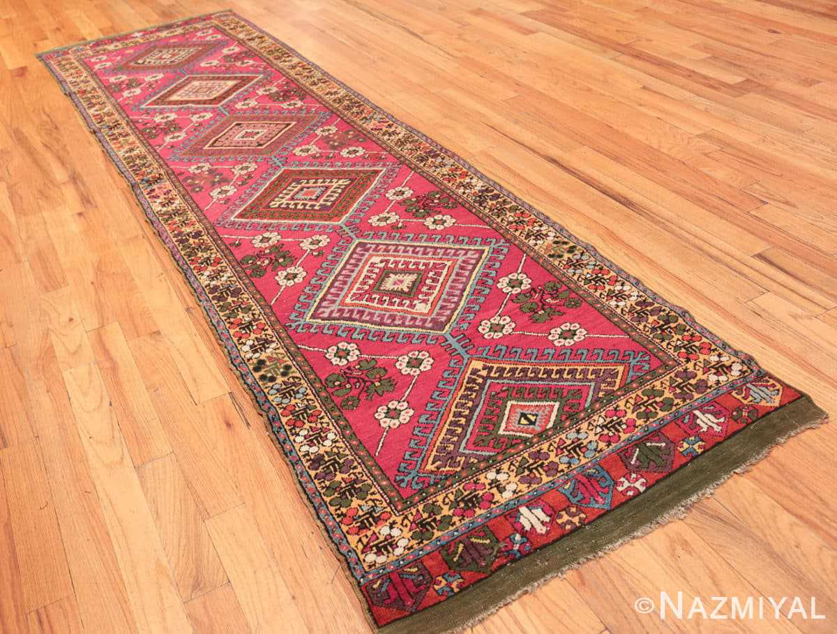 Full Tribal Antique Turkish Kisheshir runner rug 48883 by Nazmiyal