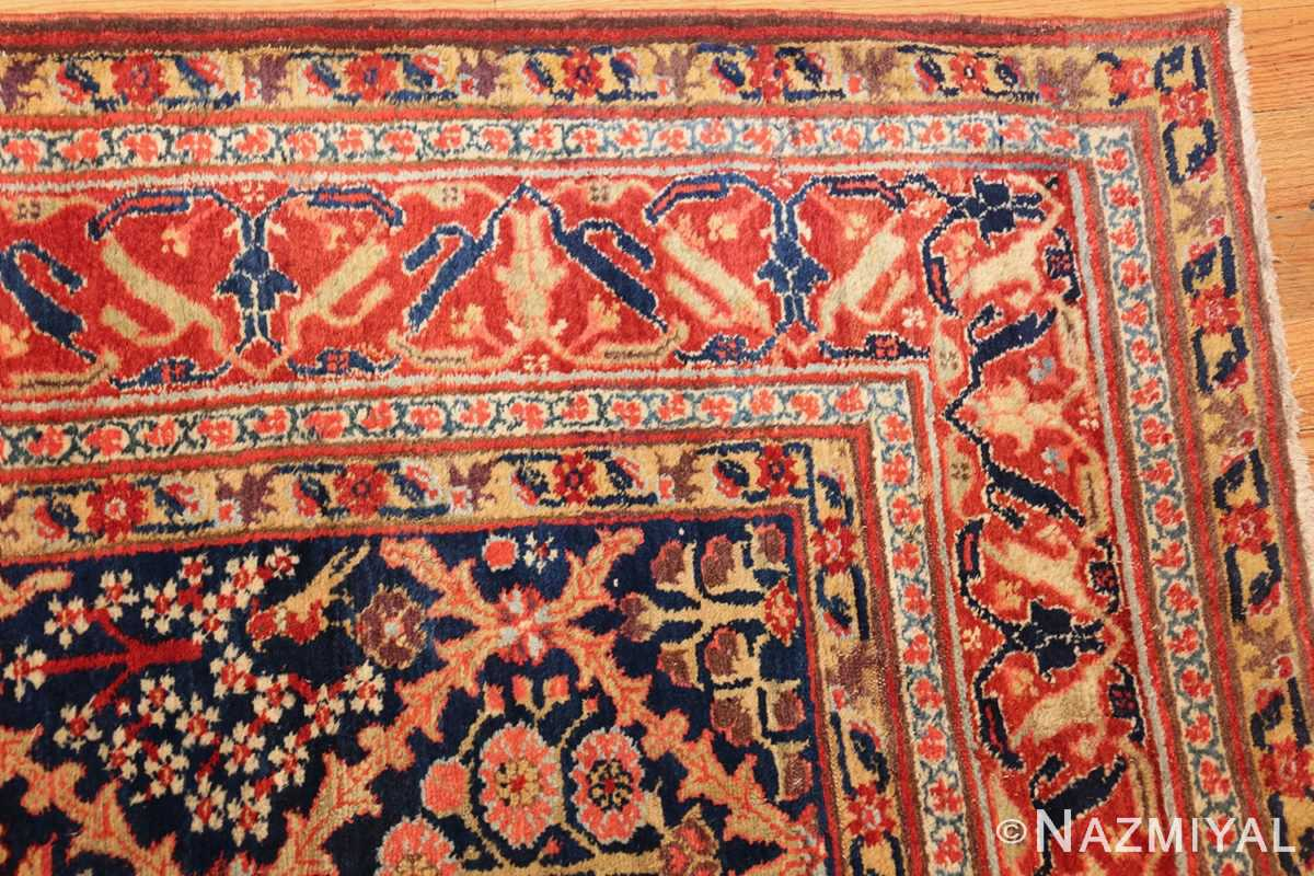 large 18th century rare antique kurdish shrub design rug 47430 corner Nazmiyal
