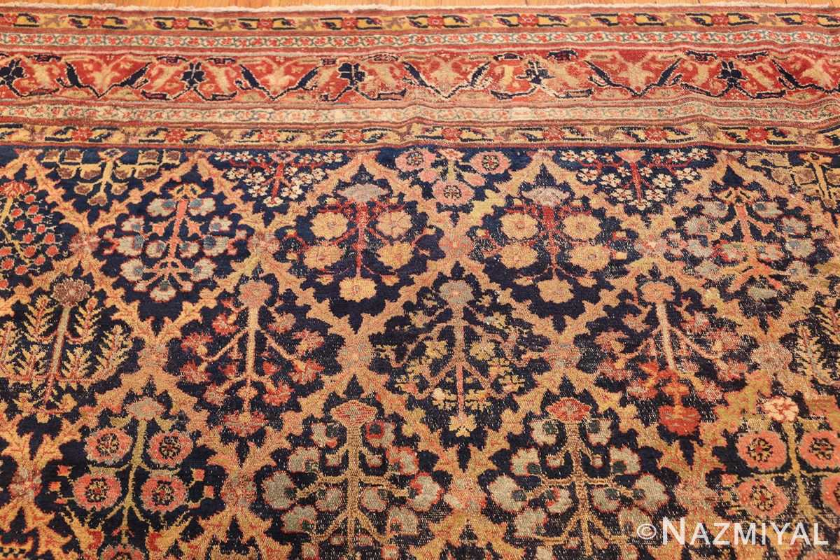 large 18th century rare antique kurdish shrub design rug 47430 top Nazmiyal