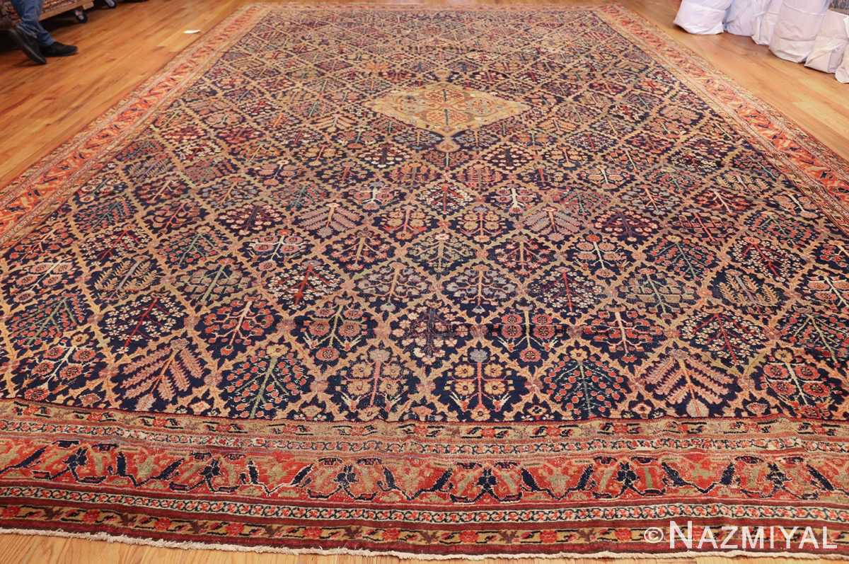 large 18th century rare antique kurdish shrub design rug 47430 whole Nazmiyal
