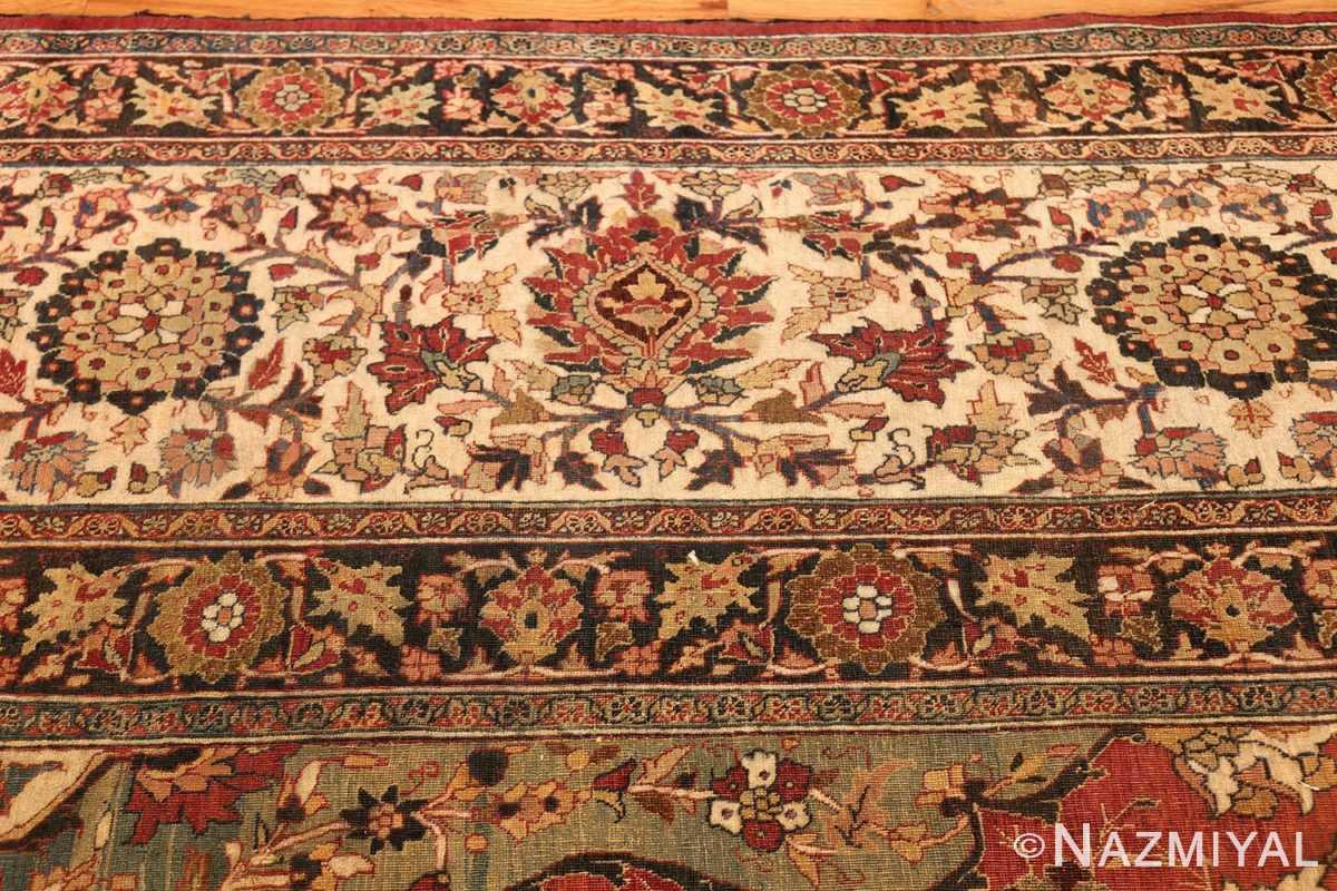 large finely woven antique persian tabriz rug 50652 border Nazmiyal