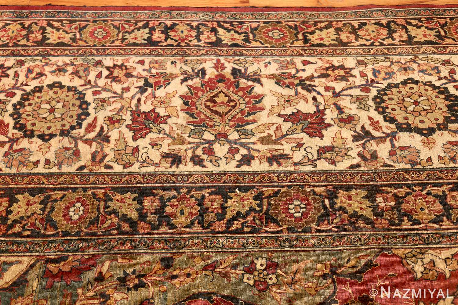 large finely woven antique persian tabriz rug 50652 border Nazmiyal