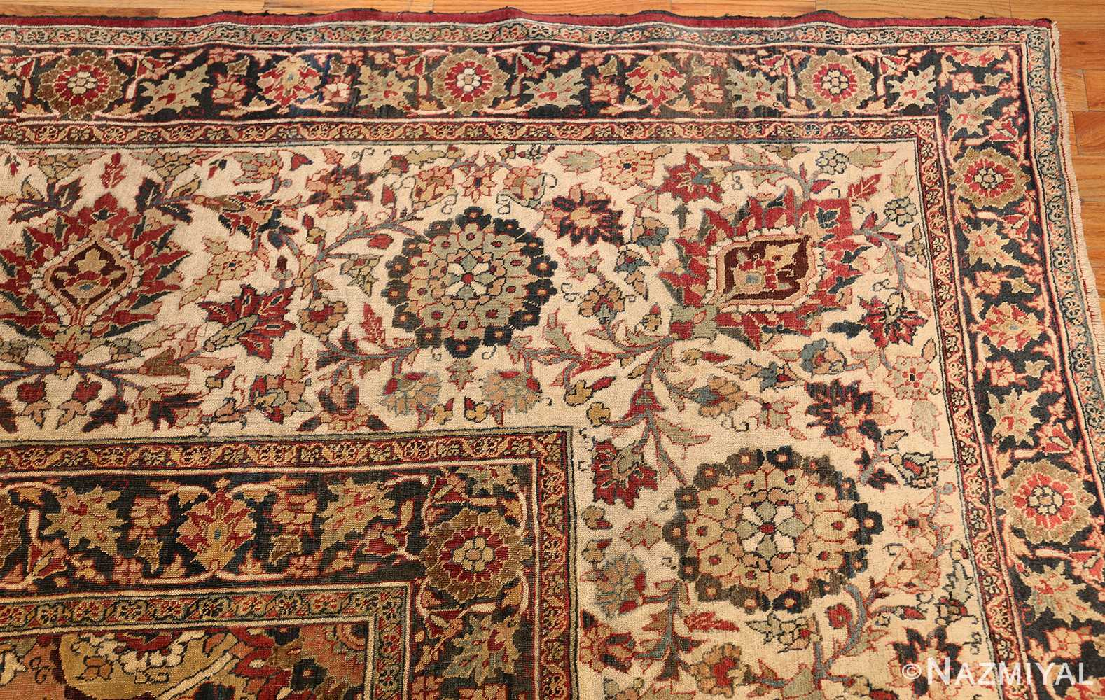 large finely woven antique persian tabriz rug 50652 corner Nazmiyal
