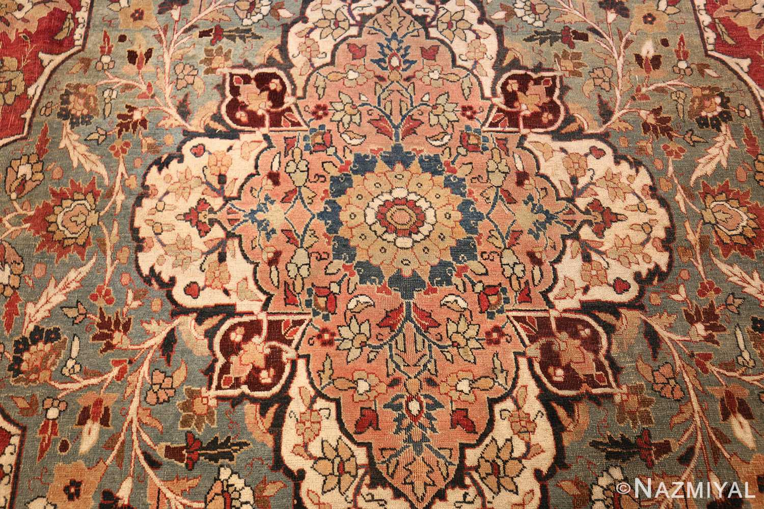 large finely woven antique persian tabriz rug 50652 medallion Nazmiyal