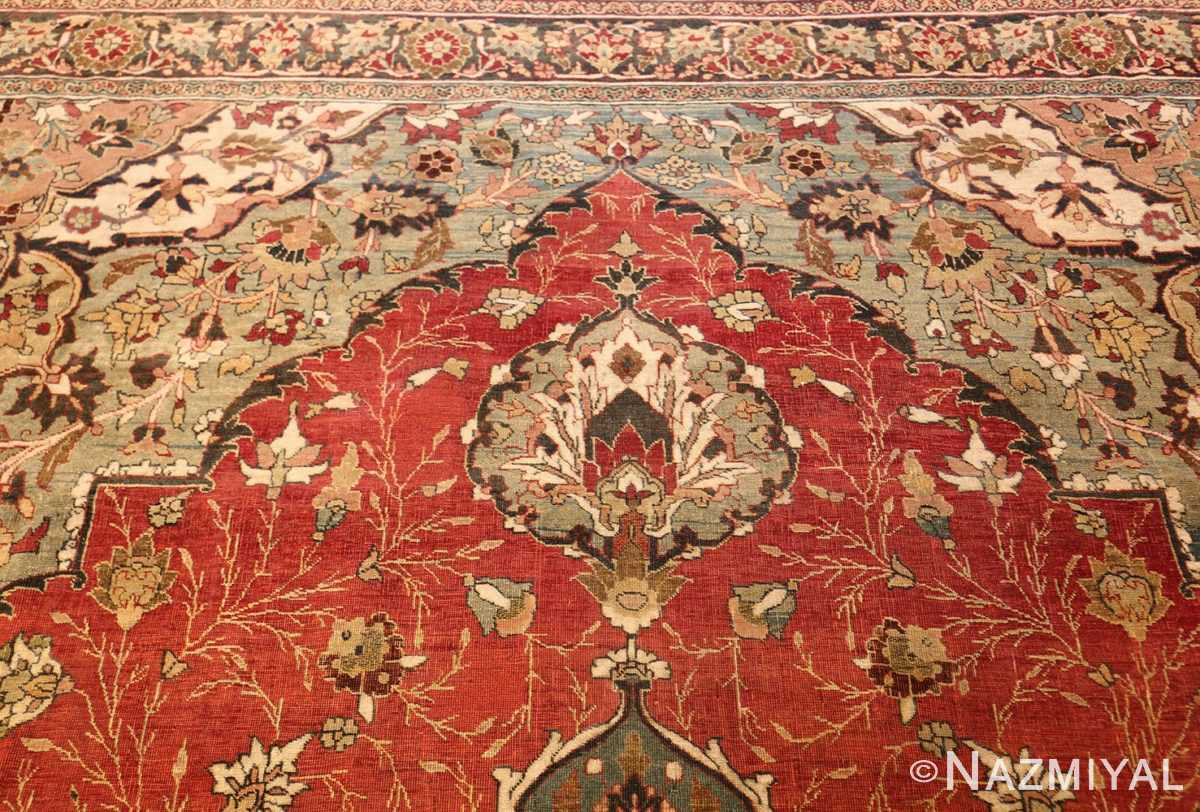 large finely woven antique persian tabriz rug 50652 top Nazmiyal
