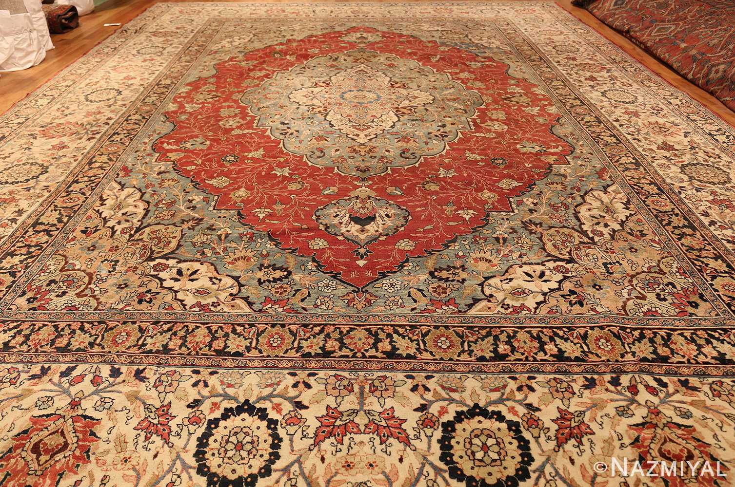 large finely woven antique persian tabriz rug 50652 whole Nazmiyal
