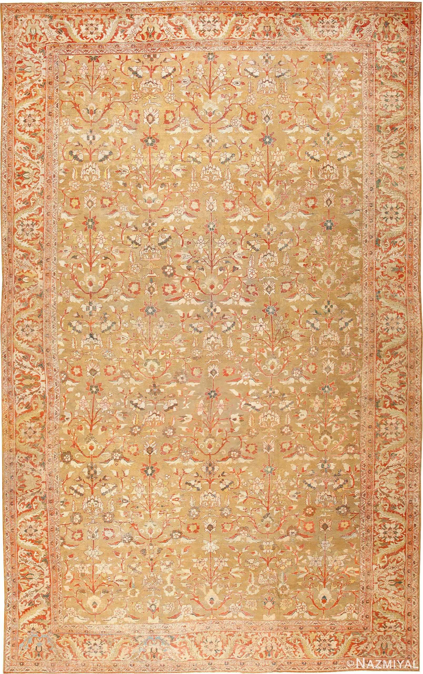 Large Oversized Antique Persian Sultanabad Rug 48944 Nazmiyal