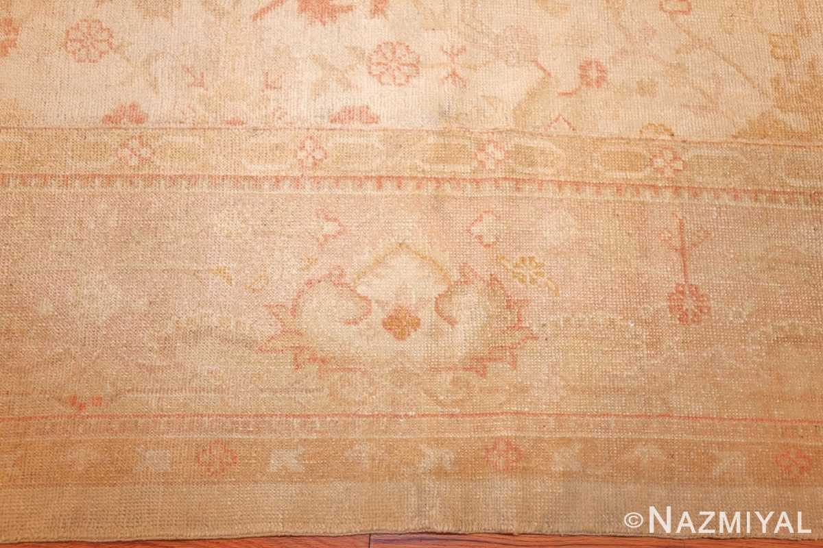 large square size antique decorative turkish oushak rug 48377 border Nazmiyal