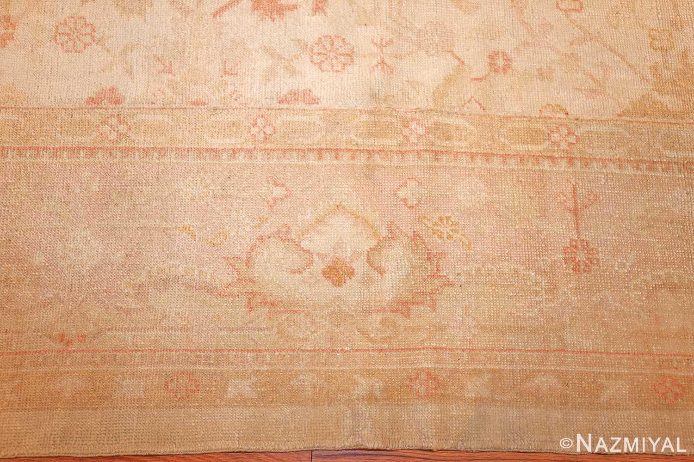 large square size antique decorative turkish oushak rug 48377 border Nazmiyal