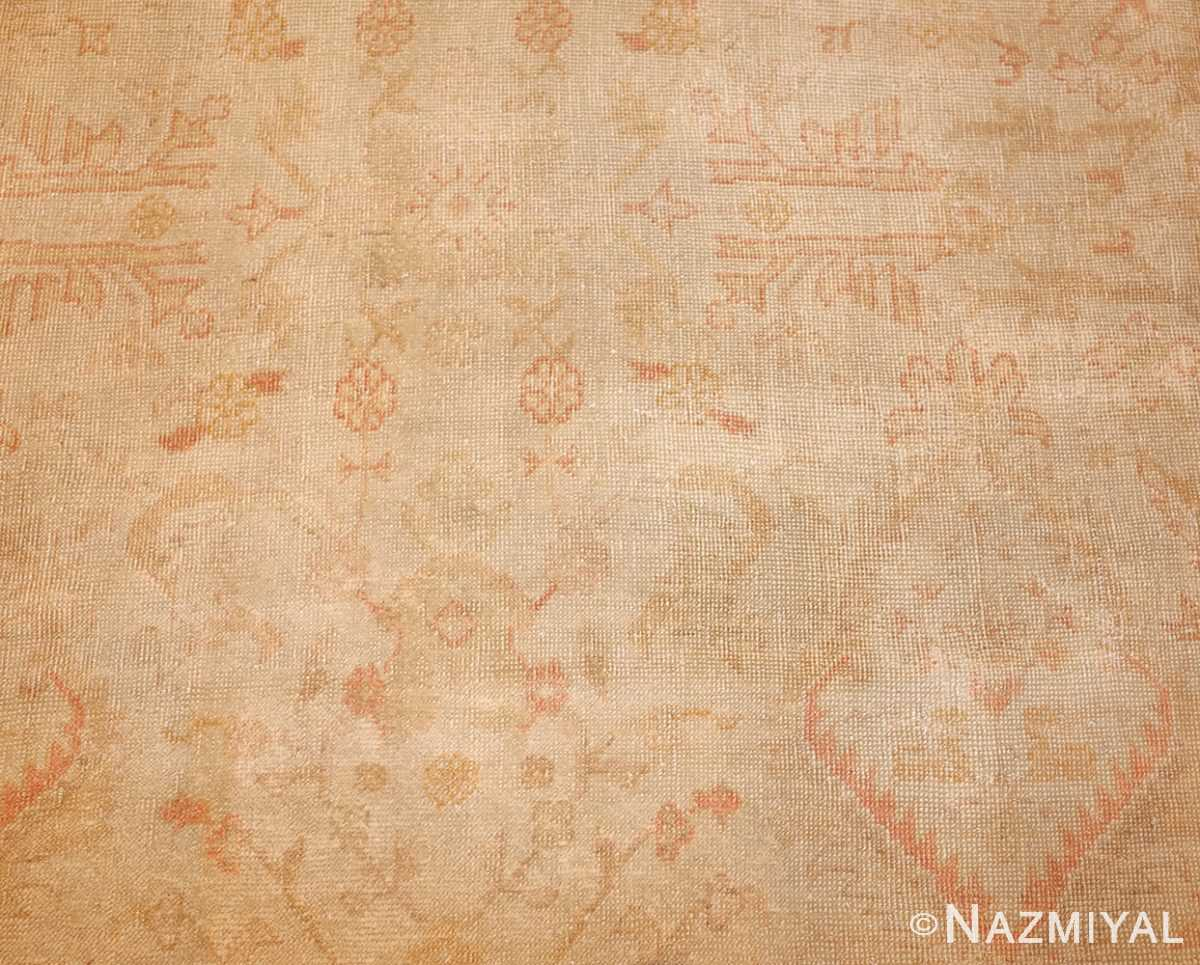 large square size antique decorative turkish oushak rug 48377 detailed Nazmiyal