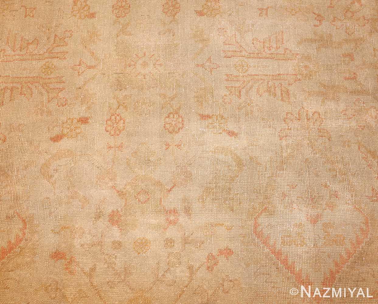 large square size antique decorative turkish oushak rug 48377 detailed Nazmiyal