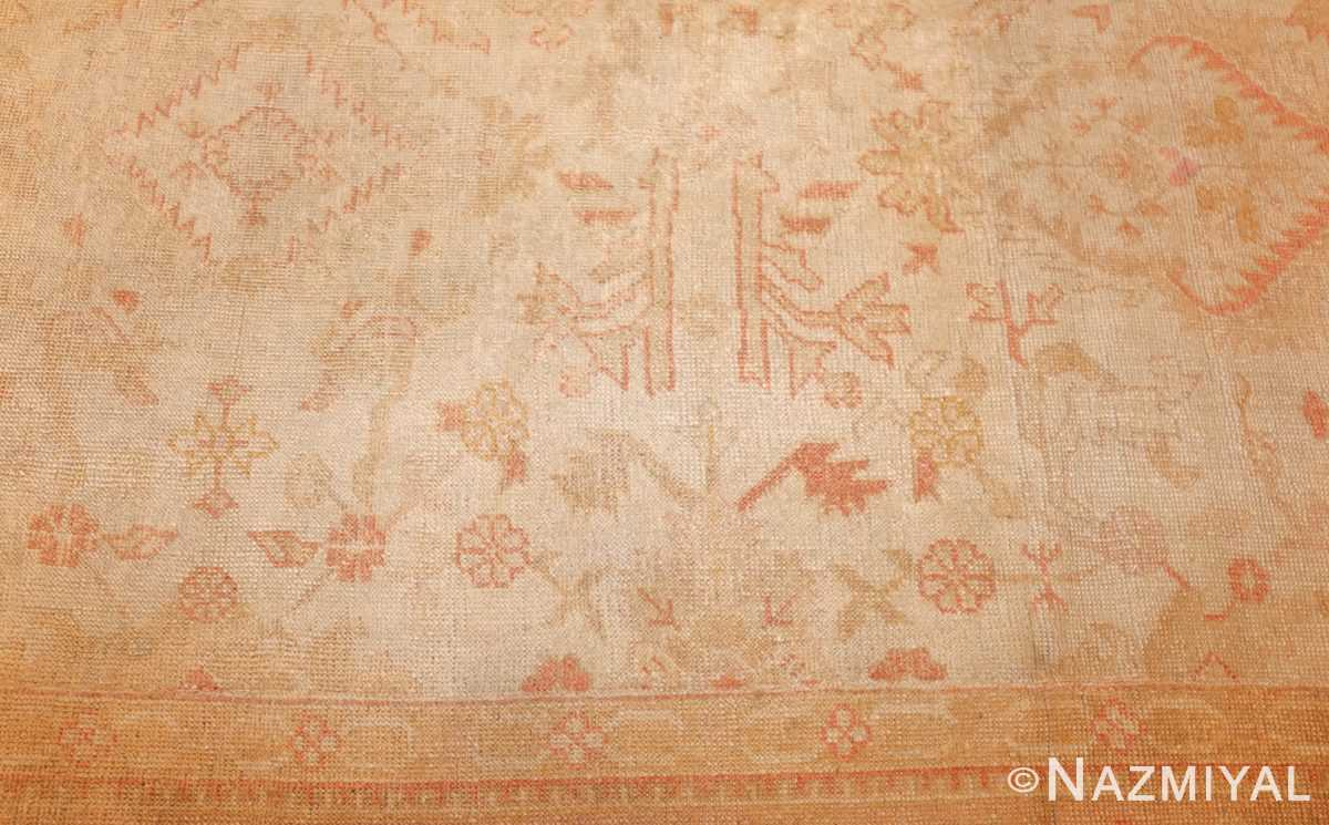large square size antique decorative turkish oushak rug 48377 field Nazmiyal