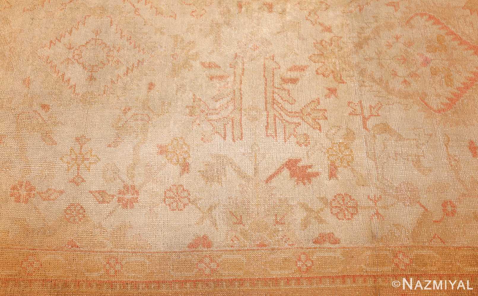 large square size antique decorative turkish oushak rug 48377 field Nazmiyal
