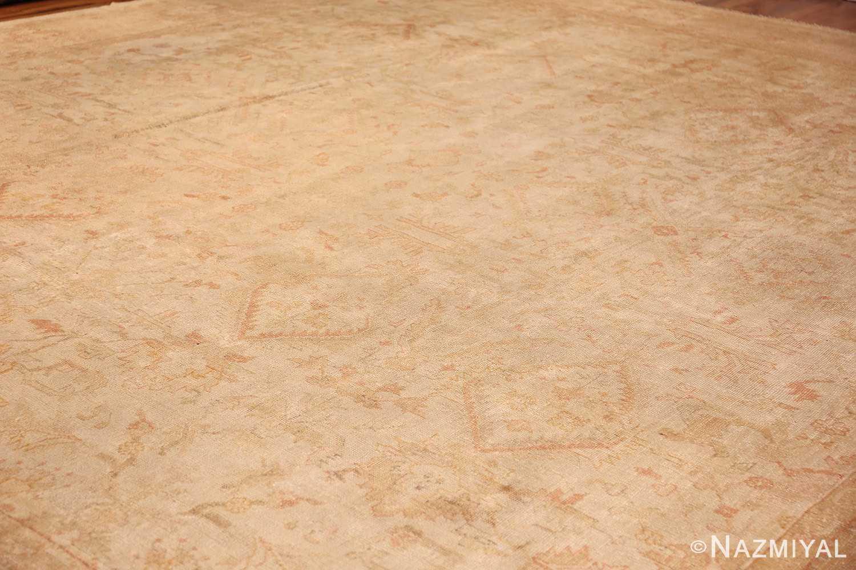 large square size antique decorative turkish oushak rug 48377 side Nazmiyal