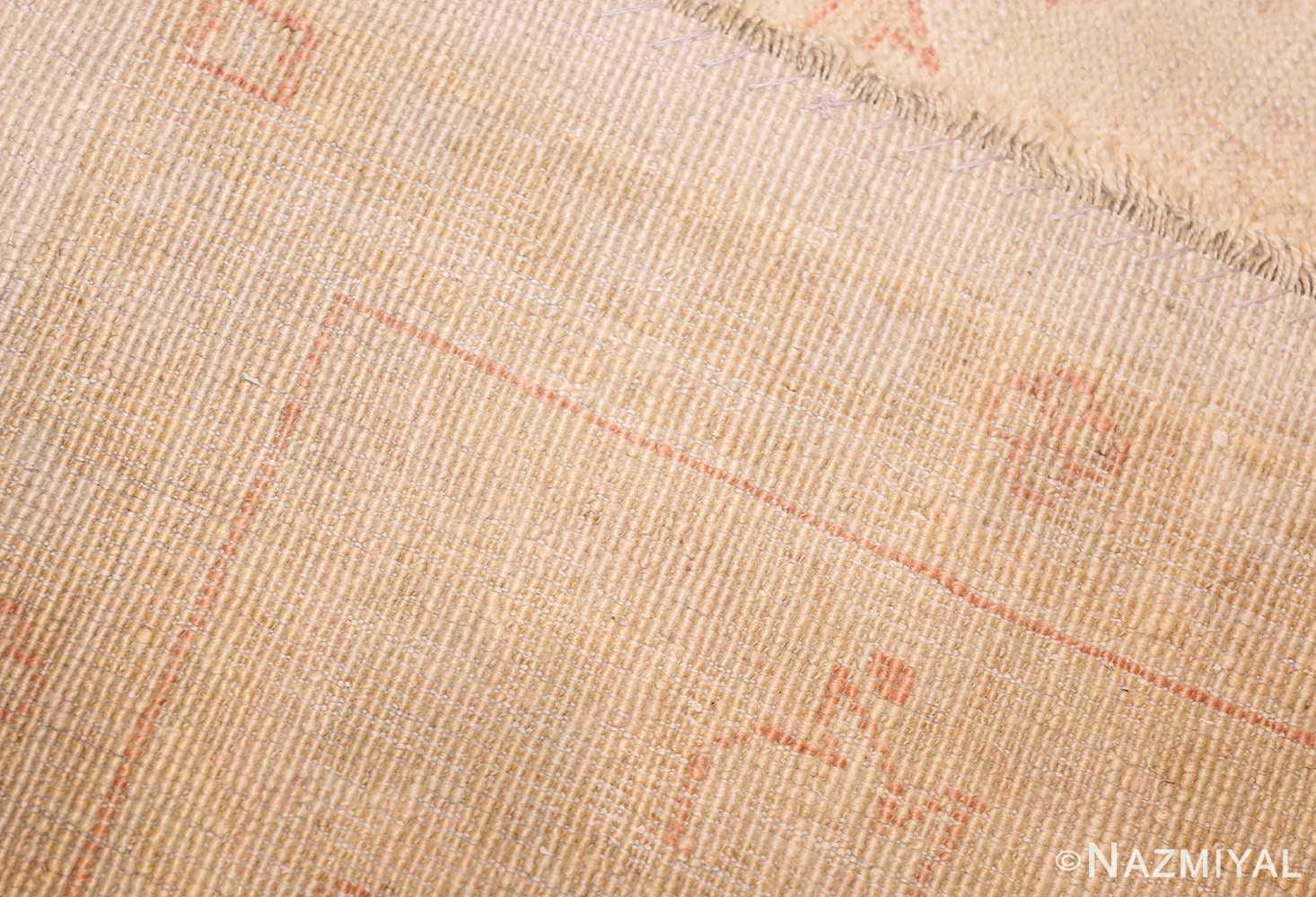 large square size antique decorative turkish oushak rug 48377 weave Nazmiyal
