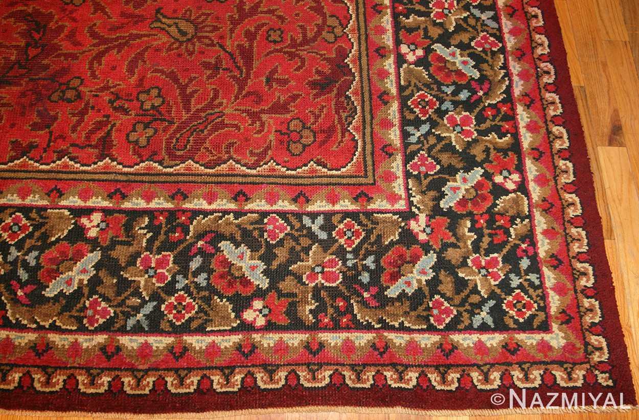 large square size antique irish donegal rug 50452 border Nazmiyal