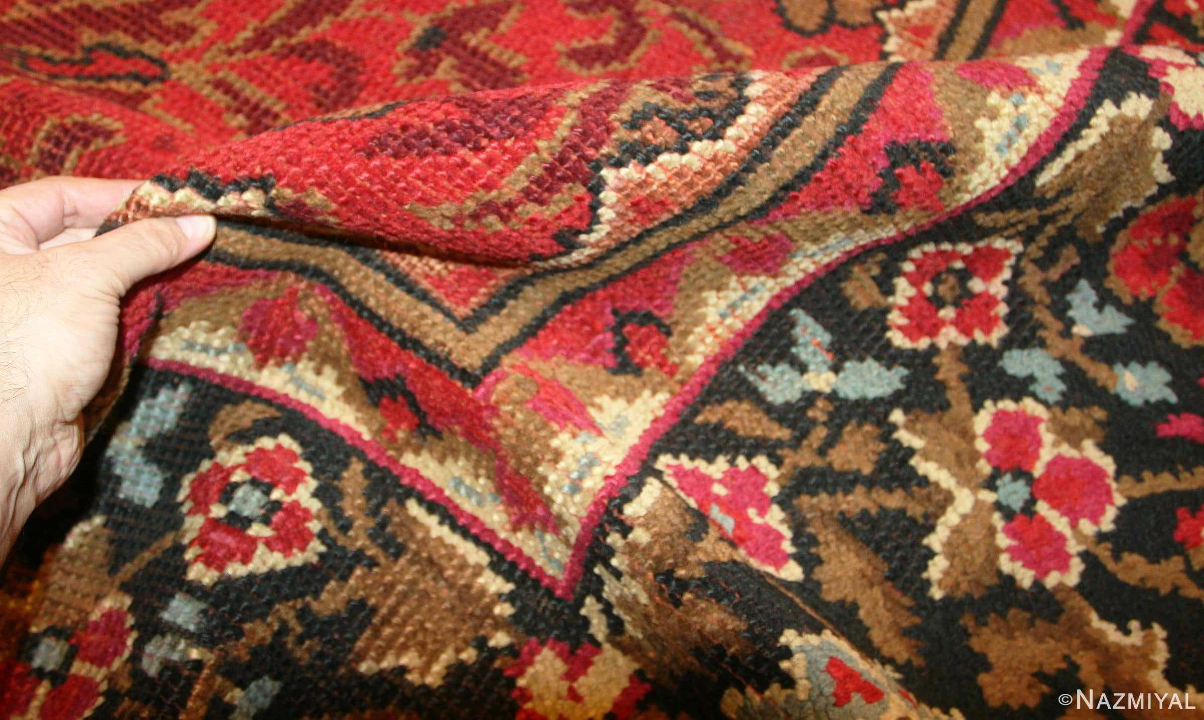 large square size antique irish donegal rug 50452 pile Nazmiyal