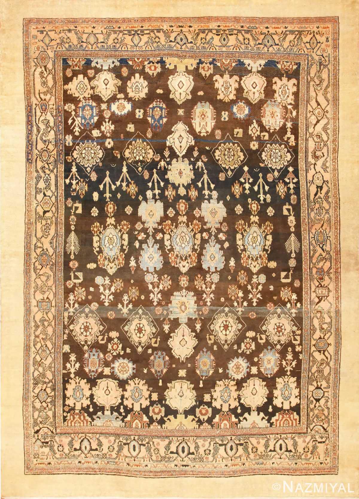 Large Tribal Room Size Antique Persian Malayer Rug 48939 Nazmiyal