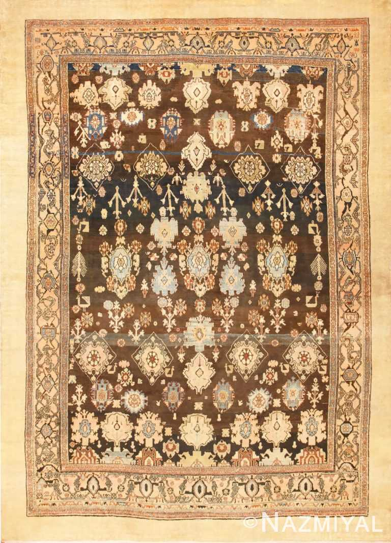 Large Tribal Room Size Antique Persian Malayer Rug 48939 Nazmiyal