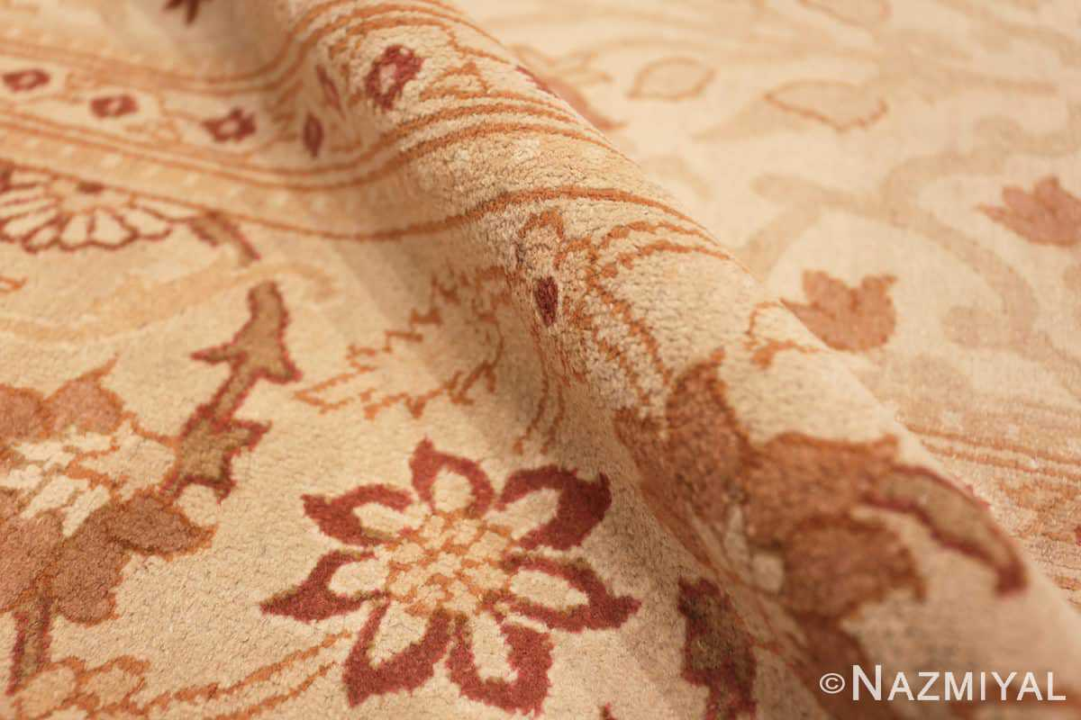 Pile Large cream background Antique Inian Amritsar 50658 by Nazmiyal