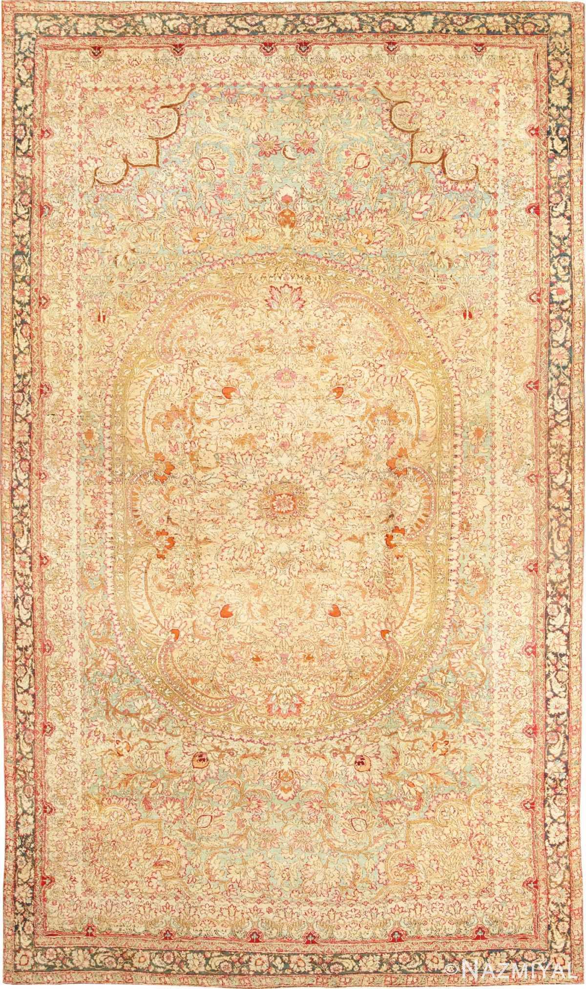 Rare and Breathtaking Large Antique Indian Agra Rug 48942 Nazmiyal